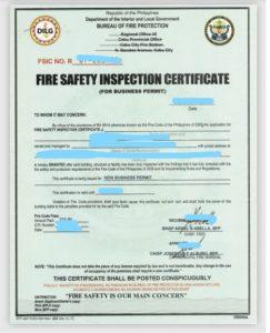 TESDA提出書類 火災関連