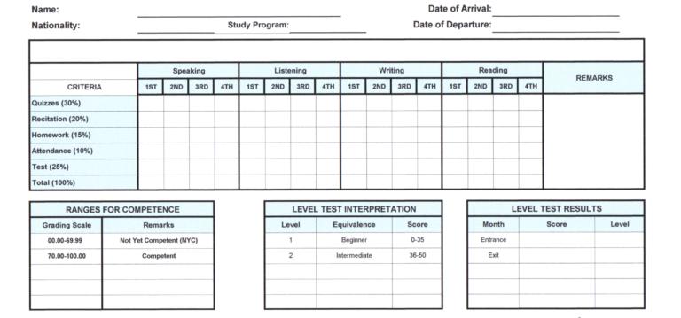 TESDA提出書類 評価判定書等について